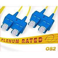 OS2 SC SC Plenum Duplex Fiber Patch Cable 9/125 Singlemode - 40 Meter