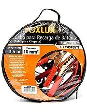 Cabo de Transferência de Cargas Foxlux - Chupeta - Cabo de Transmissão - 3,5m - Bolsa exclusiva para transporte - Espessura 10mm - 300 amperes - Resistente e Reforçado