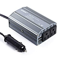 Car Inverter, Leshp 400w Power Inverter Dc 12v To Ac 110v Converter With 2.1a Dual Usb Car Adapter