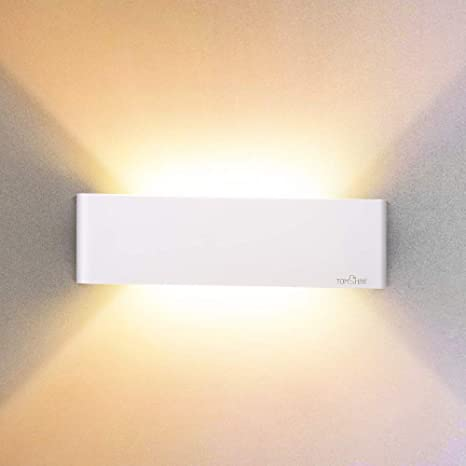 official photos d6279 f1bc7 12W Led Wall Lights Up Down Indoor Wall Lamp Aluminum Wall Sconces Lighting  for Living Room Bedroom Bathroom Indoor, Warm White Wall Wash Lights ...