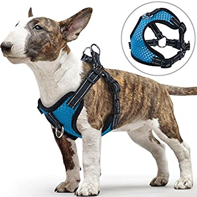 Front Clip Dog Harness, PETBABA Reflective Mesh Dog Harness Vest with Quick Release Buckle for Small to Medium Dogs