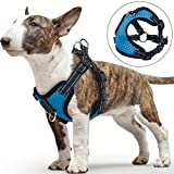 PETBABA Small Dog Harness, No Pull Vest with Front Clip Suitable Walk, Reflective Safety at Night, Soft Air Mesh Adjustable Step-in Harness - S in Blue
