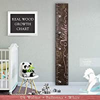 Wooden Kids Growth Chart Ruler for Boys and Girls Painted or Engraved (The Natalie) Back40Life