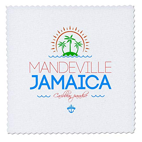 3dRose Alexis Design - Cities Jamaica - Mandeville, Jamaica city. Summer journey and fun - 25x25 inch quilt square (qs_313230_10) -