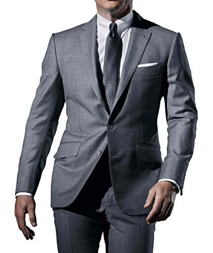 James Bond Skyfall Costumes (Class Jackets Skyfall Suit Grey Costume James Bond Daniel Craig For Mens L)