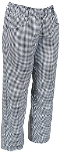 Mercer Culinary M60040HT3X Millennia Women's Chef Pants in Hounds Tooth, 3X-Large, Black/White (Chefs Knife 10' Dick)