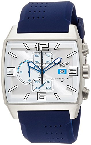 LOCMAN watch stealth video quartz chronograph silicon strap Mens 0301 030100WHFSK0SIB Men's [regular imported goods]