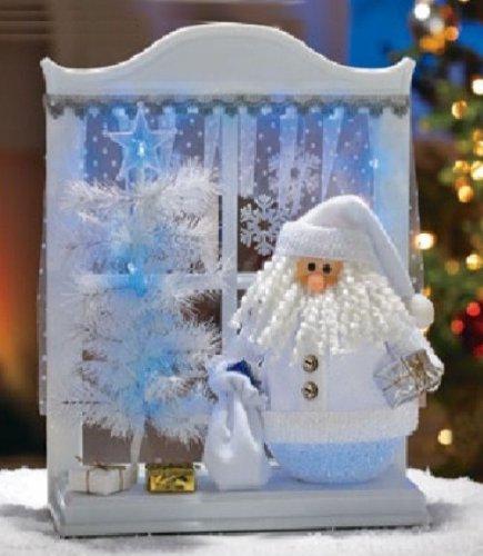 Avon Santa Lighted Window Display Christmas NIB