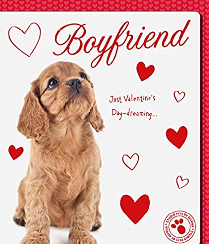 boyfriend day dreaming puppy dog new valentines day card - Dog Valentines Day Cards