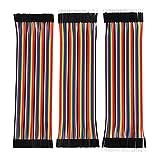 bread board for arduino - eBoot 120 Pieces Breadboard Jumper Wires Ribbon Cables Kit Wire 40 Pin M/ M, 40 Pin M/ F, 40 Pin F/ F Multicolored for Arduino