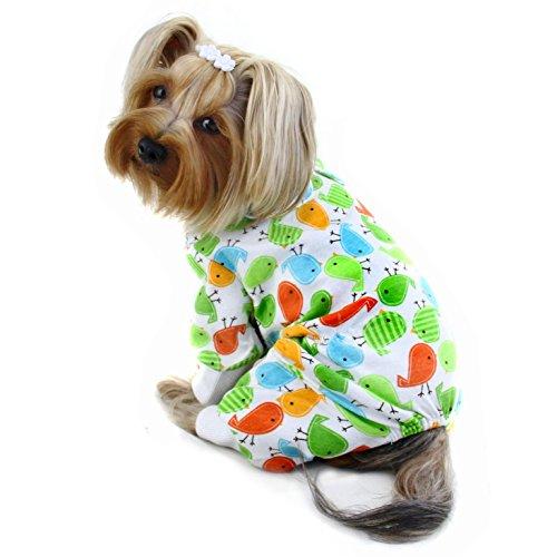 Early Birdies Knit Cotton Dog Pajamas/Bodysuit/Loungewear/PJ - SMALL