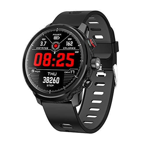 Smart Watch Activity Tracker Fitness Watch for Men Women Waterproof Heart Rate Monitor Watches Sleep Monitoring (Black)