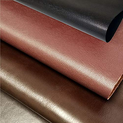 INCIRCLE Leather Pieces – Real Cow Skins, Sizes (15.6X19.6 inch) 2.2 Square FEET SCARPS (Black, Brown, Chocolate) -