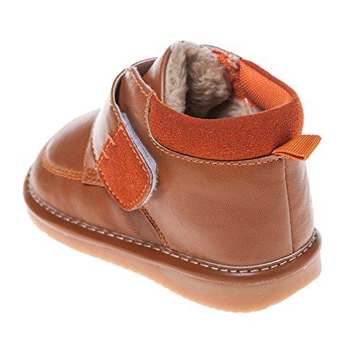 Little Blue Lamb Squeaky Schuhe Boots Stiefel gefüttert hellbraun