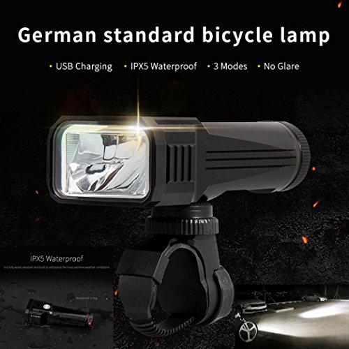 kasien Bicycle Waterproof LED Front Handlebar Lamp, 1000LM Brightness,T6 Bulb,German standard by kasien (Image #1)