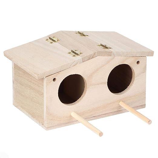Caja de pájaros para Mascotas, platane Nidos de pájaros de Madera ...