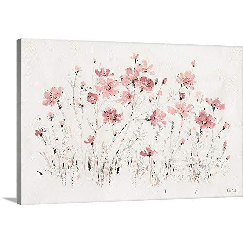 (Wildflowers I Pink Canvas Wall Art Print, 36