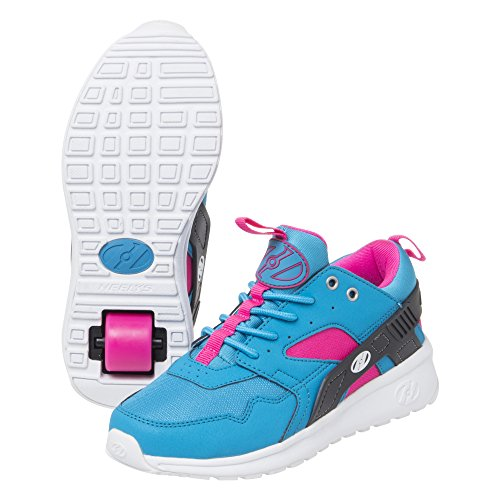 Heelys Girl's Force (Little Kid/Big Kid/Adult) Aqua/Grey/Pink Athletic Shoe by Heelys