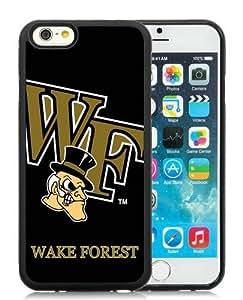 Popular Design NCAA Atlantic Coast Conference ACC Footballl Wake Forest Demon Deacons 1 Black Customized iPhone 6 4.7 Inch TPU Phone Case