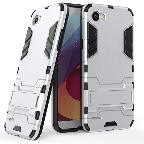 Funda para LG Q6 (5,5 Pulgadas) 2 en 1 Híbrida Rugged Armor Case Choque Absorción Protección Dual Layer Bumper Carcasa con...