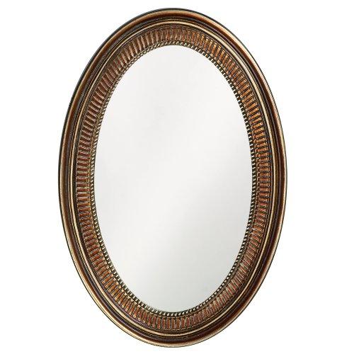 Howard Elliott Ethan Oval Hanging Wall Or Vanity Mirror, 21 x 31 -