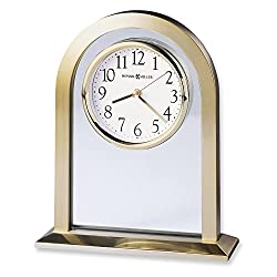 Jewelry Adviser Gifts Imperial Brass Finish Quartz Table Clock