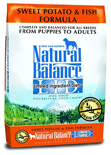 Dick Van Pattens Natural Balance Limited Ingredient Diets Sweet Potato and Fish Formula Dry Dog Food 26-Pound Bag