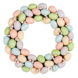 "17"" Spring Easter Egg Door Wreath Eggs and Berries Wreath 24"
