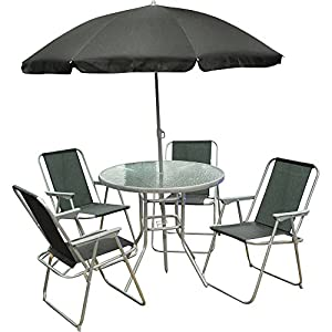 6 Piece Garden Furniture, Patio Set inc. Chairs, Table ...