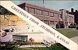 Underground Army Storage Cave and City Hall Atchison, Kansas Original Vintage Postcard