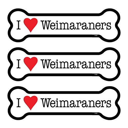 SJT ENTERPRISES, INC. Weimaraners 3-Pack of 2 x 7