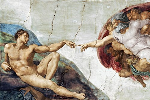 The Creation Of Adam by Michelangelo - Art Poster