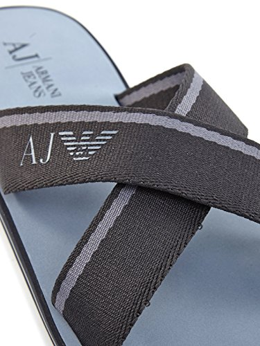 C6545 35 blu Jeans Armani 57 sandal flat mens BLU w4IwCRqA