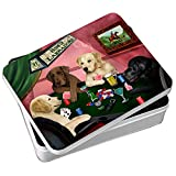 Home of Labradors 4 Dogs Playing Poker Photo Tin