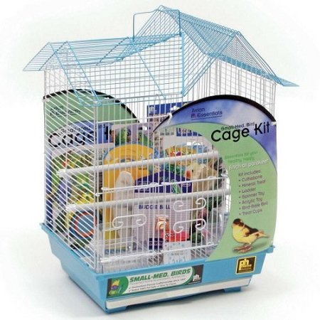 (Prevue Hendryx Double Roof Parakeet Bird Starter Kit)