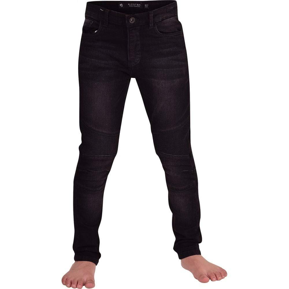 Ripstop Boys Childrens Skinny Stretch Slim Fit Denim Jeans Adjustable Inner Waistband