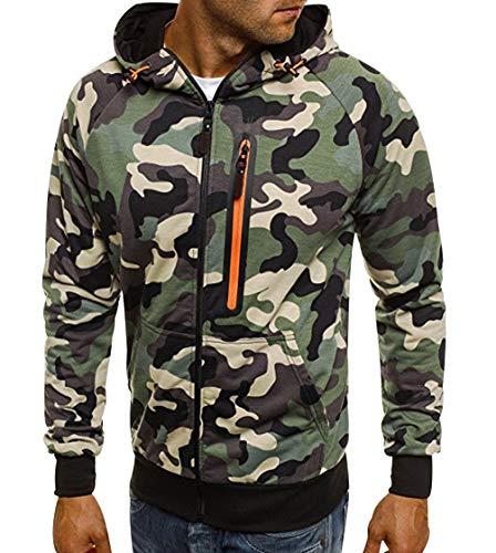 Militaire Taille Sweatshirt A Oversize Zippée Zippés Capuche Zippé Hoodies Homme Sweats Veste À Grande Imprimé Camouflage Sweet Sport Epais Vert Hiver Shirt Hoodie Pull Sweat B4qAFn7