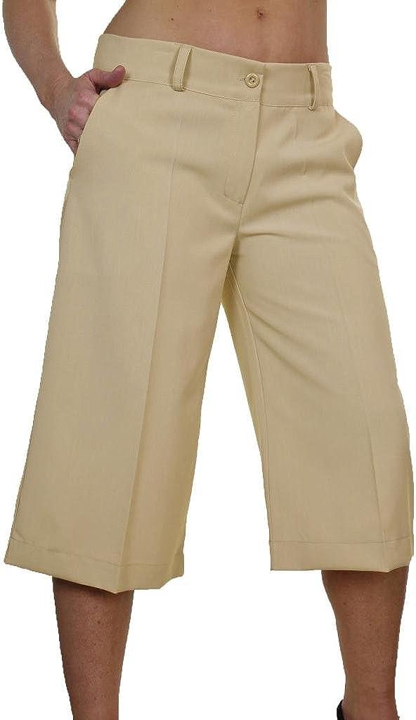 ICE (1475 Pantalones Cortosde Tipo Falda Bragas Elegante y Suave