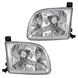 Driver and Passenger Headlights Headlamps Replacement for Toyota Pickup Truck 811500C010 811100C010