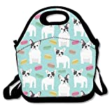 French Bulldog Lunch Tote Bag Bags Awesome Lunch Handbag Lunchbox Box for School