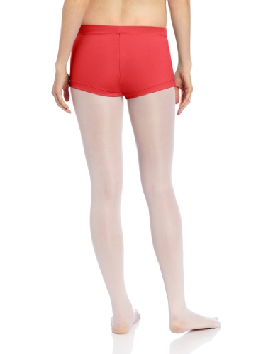 Capezio Women's Low Rise Boy Cut Short, Red, X-Large