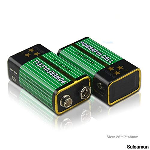 Yoton Accessories New 4x6F22 PPP3 6lr61 9V Battery Super Heavy Duty Dry Batteries Non Rechargeable for Radio,Camera,Toys etc RC Battery ()
