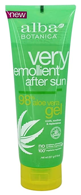 4 Pack - Alba Botanica Very Emollient, After Sun Gel 8 oz darphin chamomile aromatic care gel mask, 0.5 ounce