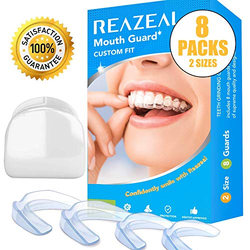 Health Professional Dental Guard - Pack of 8 - New Upgraded Anti Grinding Dental Night Guard, Stops Bruxism, Tmj & Eliminates Teeth Clenching