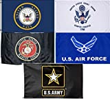 Wholesale Lot 5 3×5 Branches Military USAF USCG USMC Army Navy Set Flag 3'x5′ #6 Fade Resistant Double Stitched Premium Quality For Sale