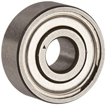 Dynaroll Precision Miniature Ball Bearing, ABEC-3, Double Shielded, Stainless Steel