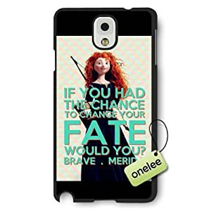 Disney Brave Princess Merida Frosted Phone Case & Cover for Samsung Galaxy Note 3 - Black