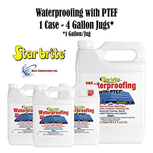 Waterproofer Fabric - Star Brite 81900 Fabric Waterproofing w/ PTEF (1 Case - 4 Gallon Jugs)