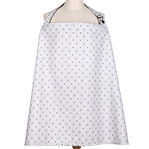 Grey and White Celeste Print Nursing Cover by The Peanut She