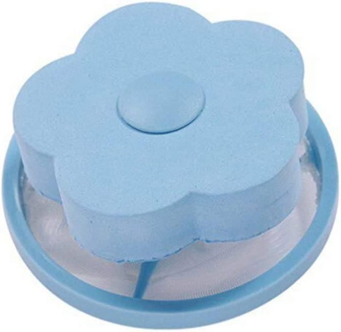 Fusself/änger yangGradel Wiederverwendbare Waschmaschine blau schwimmender Fusselbeutel tragbar 5 pcs